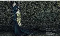 Timelessly Regal Editorials - The Noi.se Magazine FW13 Photoshoot is Mysteriously Romantic