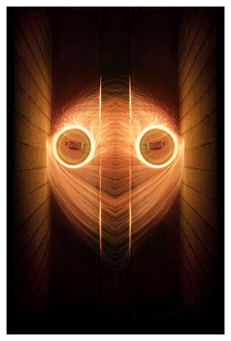 Symmetrical Light Paintings