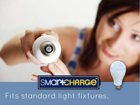 Self-Charging Light Bulbs - The SmartCharge is a Rechargeable LED Light Bulb for Your Home