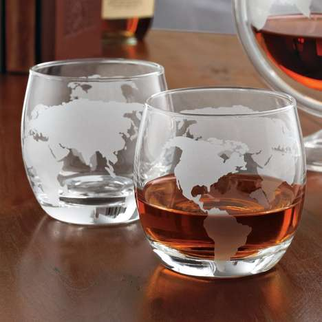 Etched Noble Globe Glassware
