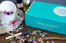 Monthly Craft Subscription Boxes - Darby Smart's DIY Craft Kit Boxes Provide Projects Year-Round