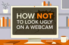 Webcam Presentation Tip Graphics - This Infographic Describes How to Look Good on a Webcam