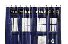 Police Box Shower Curtains - This TARDIS Shower Curtain Will Make the Bath Bigger on the Inside