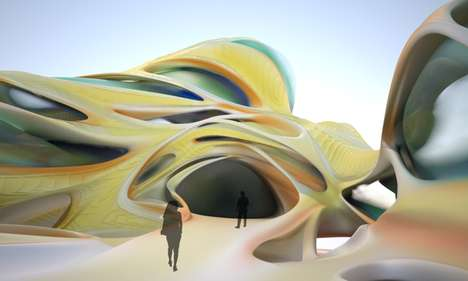 Alienesque Architectural Cladding - Exquisitely Exuviated Project Has a Biologically Inspired Skin