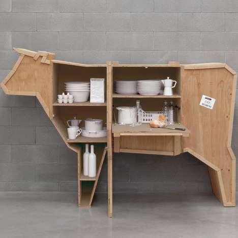 Quirky Barn Animal Shelves
