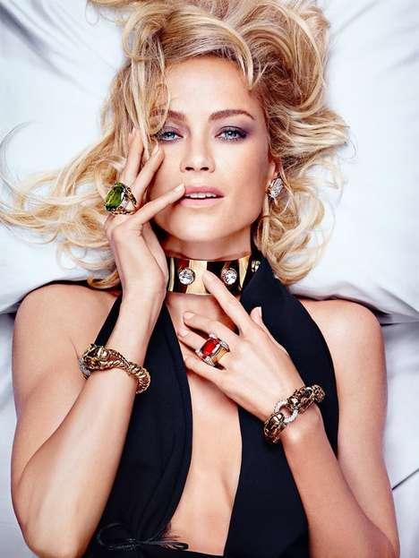 Bejeweled Bedridden Fashion Ads