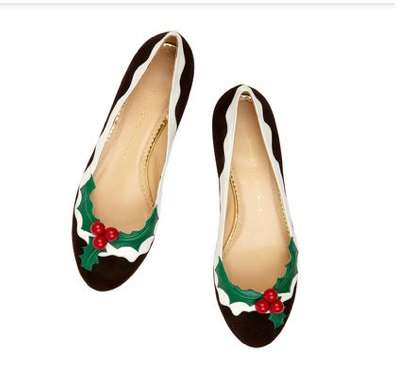 Holiday Holly Slippers - Charlotte Olympia Holly Flats Turn any Outfit into a Festive One