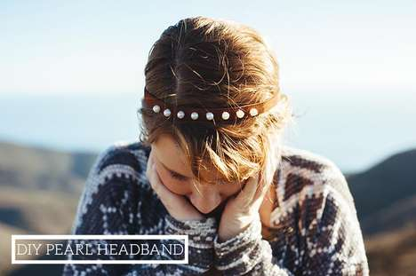 Rustic Pearl Headpieces - This DIY Leather Pearl Headband Features a Chic Bohemian Style