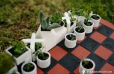 Potted Game Pieces - The Micro Planter Chess Set Comprises a Collection of Little Flower Pot Figures