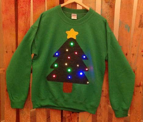 Festive Blinking Light Sweaters