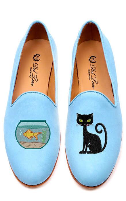 Elegantly Mismatched Slippers