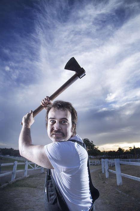 Intense Homicidal Farmer Photography