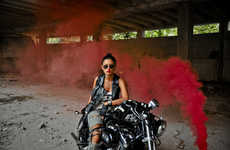Metaphoric Biker Girl Photos