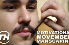 Motivational Movember Manscaping - Paul Maccarone Got a Sweet 'Stache Trim for Movember 2013