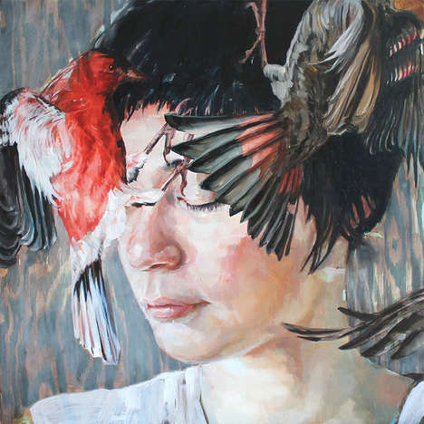 Ambiguous Ethereal Oil Paintings