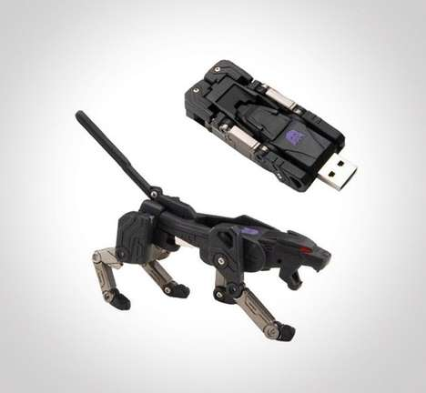 Transforming Jungle Cat USBs - This Transformer USB Flash Drive is More Than Meets the Eye