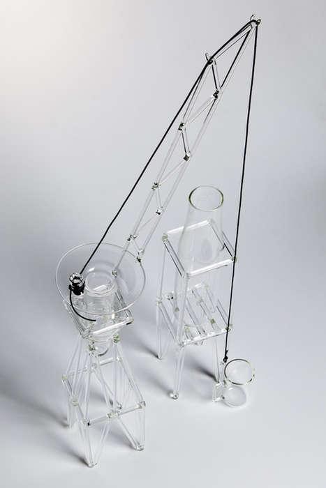 Crane-Inspired Drinkware Sets