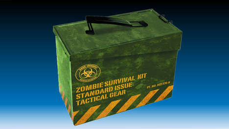 Zany Zombie Lunch Boxes - The Zombie Survival Kit Will Feed the Hunger