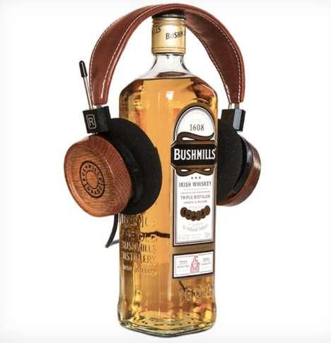 Classic Whiskey Barrel Headphones