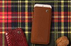 Swanky Mobile Leather Cases - These Axpasia Mobile Cases are Made of Genuine Italian Leather