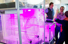 LED Indoor Farming Devices - GrowCubes Takes Outdoor Farming Into Your Apartment