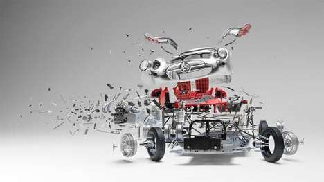 Destructive Classic Car Art