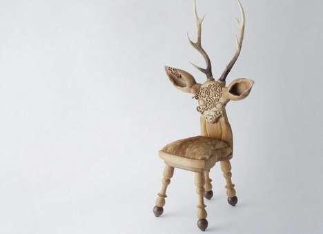 Whimsically Petite Deer Chairs
