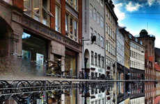 Mirrored Cityscape Photographs - Morten Nordstrom's Reflective Photographs Shows Off Copenhagen