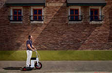 Retractable Electric Scooters - The Acton M Scooter is a Carry-On and Fully Collapsible E-Scooter