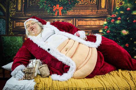 Grotesquely Obese Santa Displays
