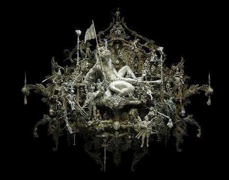 Intricate Greek God Sculptures