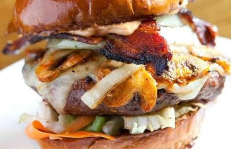 California Rooster Sauce Burgers