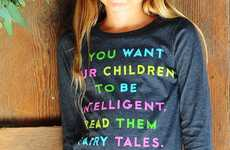 Encouraging Storytelling Sweaters - This Einstein Quote Tee Embraces the Mystical