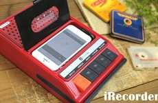 Bulky Retro Music Docks - The iRecorder is a Retro Music Player for iPhones