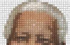 Pixelated Tribute Art - This Nelson Mandela Tribute by Guy Whitby Pushes the Right Buttons