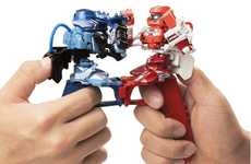 Robot Thumb Wrestlers - The Omnibot Battroborg Thumb War Fighting Robots Reinvent Thumb Wars