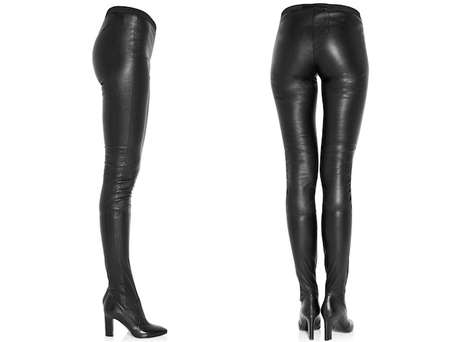 Hybrid Leather Boot Pants - The Tamara Mellon Leather Legging Boots are the Best of Both Worlds