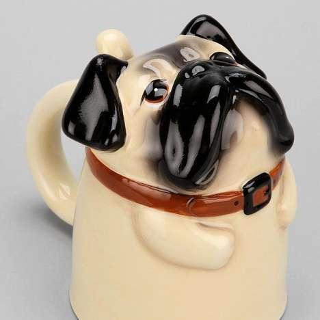 Upside Down Doggie Mugs