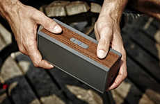 Wooden Speaker Blocks - Grain Audio's Packable Wireless System is Designed for Use on the Go