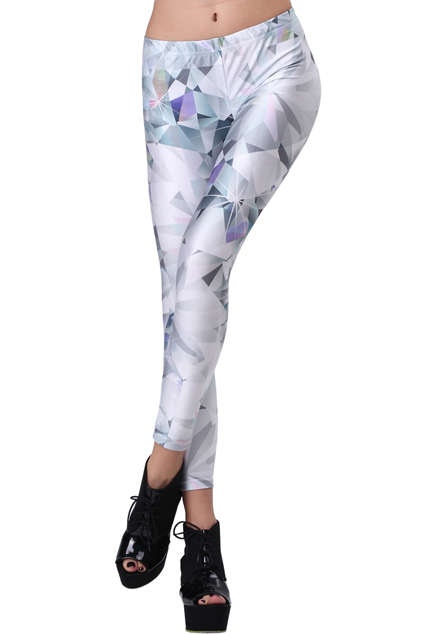 Shimmering Diamond Print Leggings