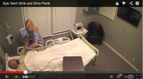 Epic Drunk Driving Pranks - This Video Featuring Tom Mabe Shows the Comedian Playing Hospital Pranks