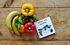 Produce-Loving Coloring Books - The Colour Me Healthy Book Encourages Kids to Eat Fruits and Veggies