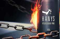 Miners' Beverage Marketing - Hanys Beer Packaging Has a Direct and Powerful Image of a Digger's Pick