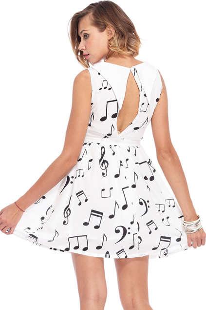 Musically Printed Mini Dresses