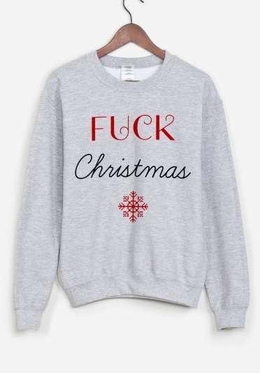 Crass Christmas Sweaters - The Clothing Company Rad Makes These Hilarious Holiday Shirts