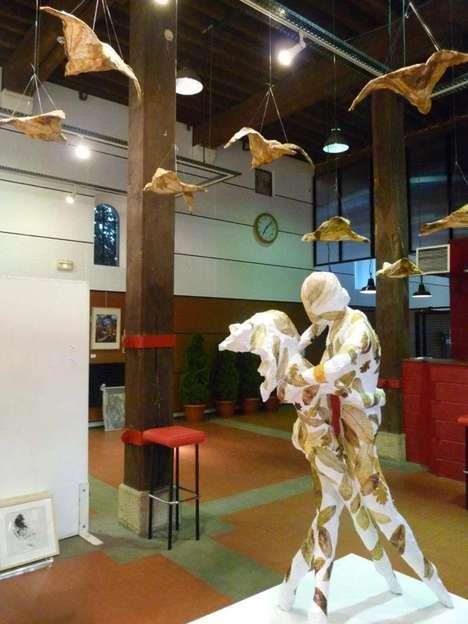Dancing Leaves Sculptures