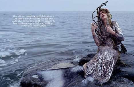 Beached Mermaid Editorials