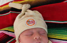 Burrito-Inspired Baby Blankets - The Tortilla Baby Swaddle Turns Your Baby into Mexican Food
