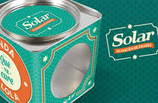 Nostalgic Snack Branding - The Reusable Solar Cookies Packaging Establishes a Long-Lasting Image