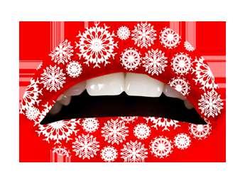 Temporary Holiday Lip Tattoos